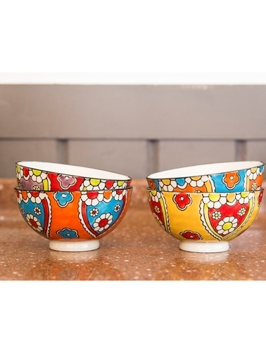 Warm Design Hand-Painted Kaseler Renkli